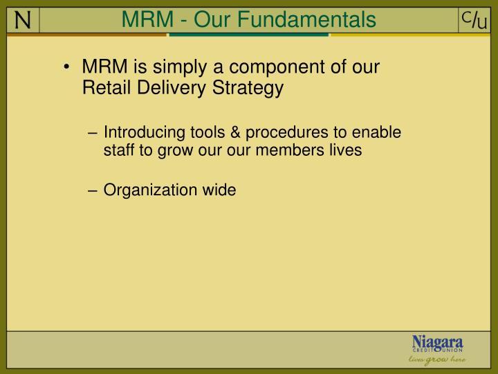MRM - Our Fundamentals