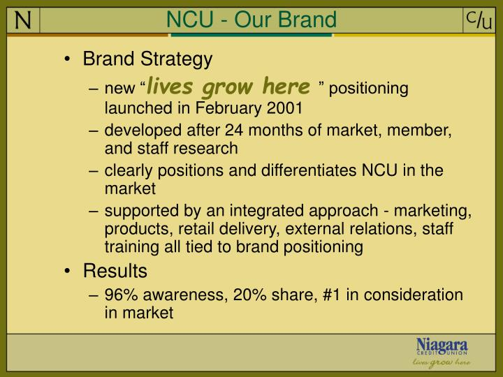 NCU - Our Brand