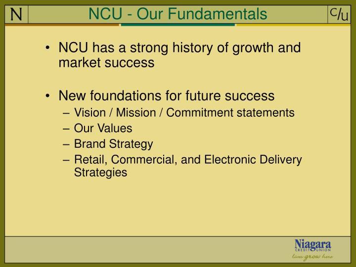 NCU - Our Fundamentals