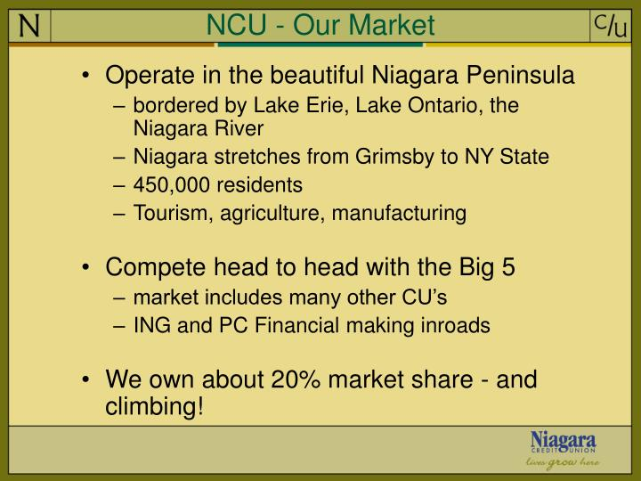 NCU - Our Market