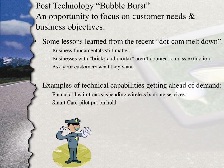 "Post Technology ""Bubble Burst"""