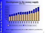 development in the money supply naf mln