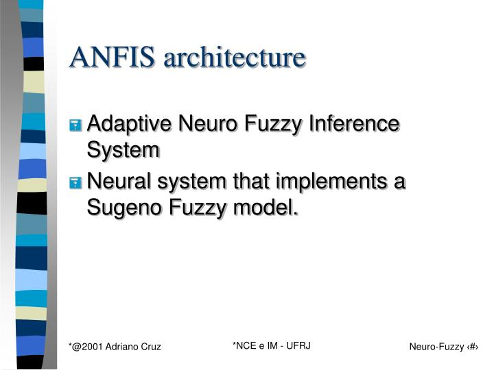 ANFIS architecture