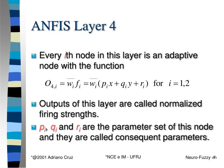 ANFIS Layer 4