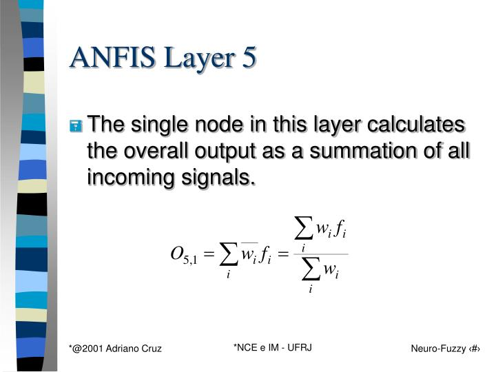 ANFIS Layer 5