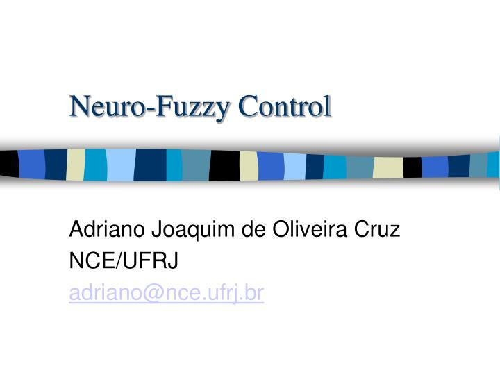 neuro fuzzy control