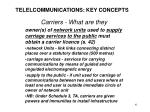 telelcommunications key concepts