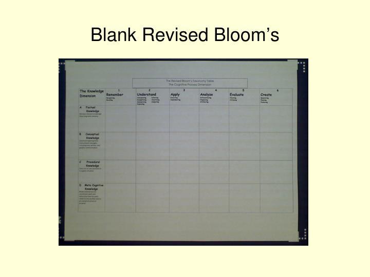 Blank Revised Bloom