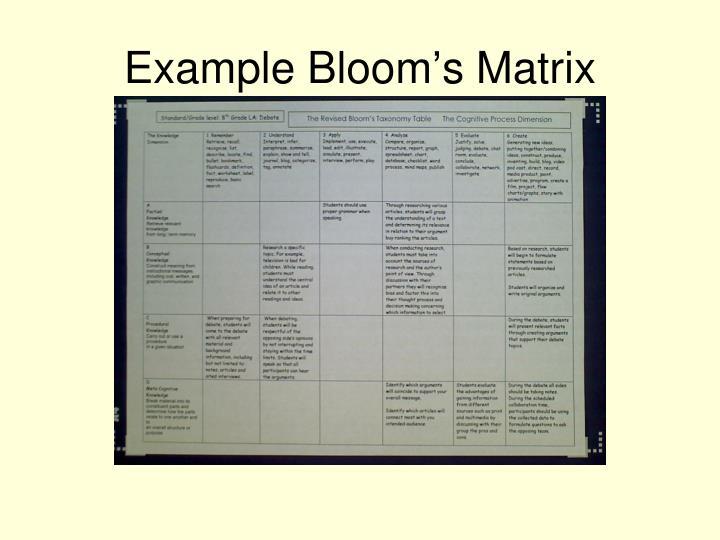 Example Bloom