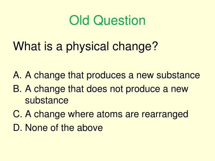 Old Question