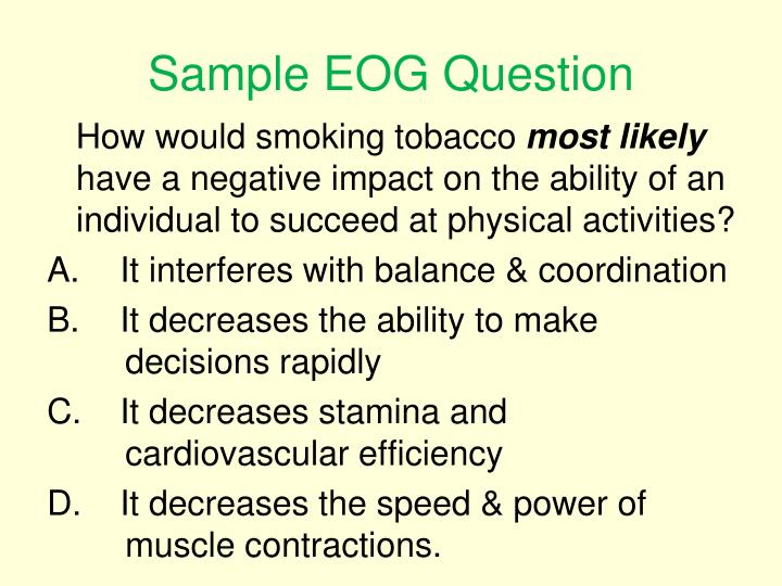 Sample EOG Question