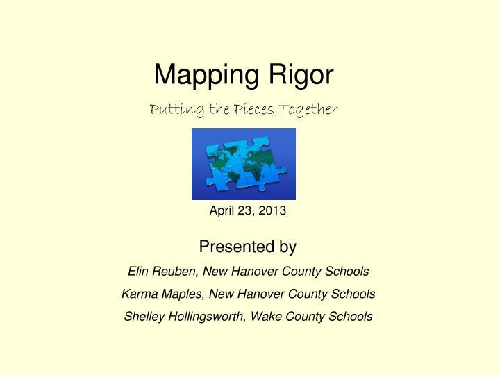 Mapping Rigor