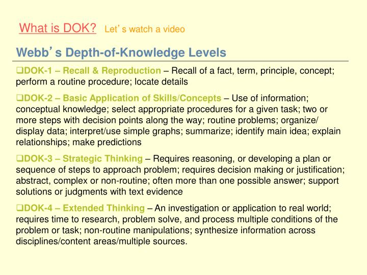 What is DOK?