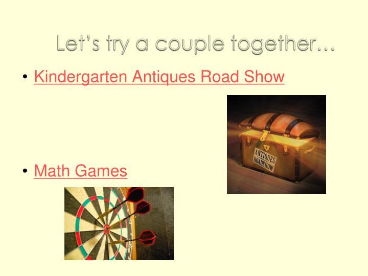 Kindergarten Antiques Road Show