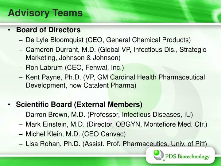 Advisory Teams