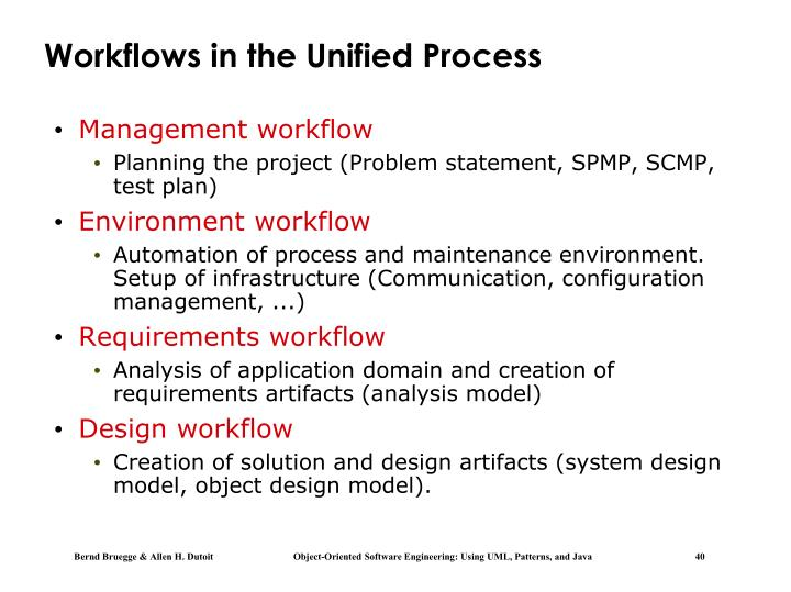Workflows in the Unified Process