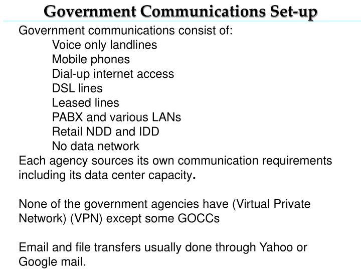 Government Communications Set-up