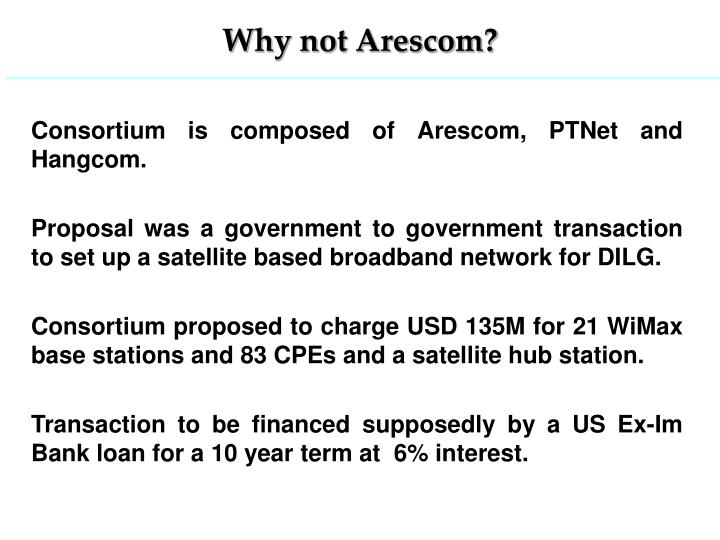 Why not Arescom?