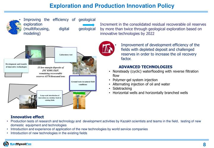 Exploration and Production Innovation Policy