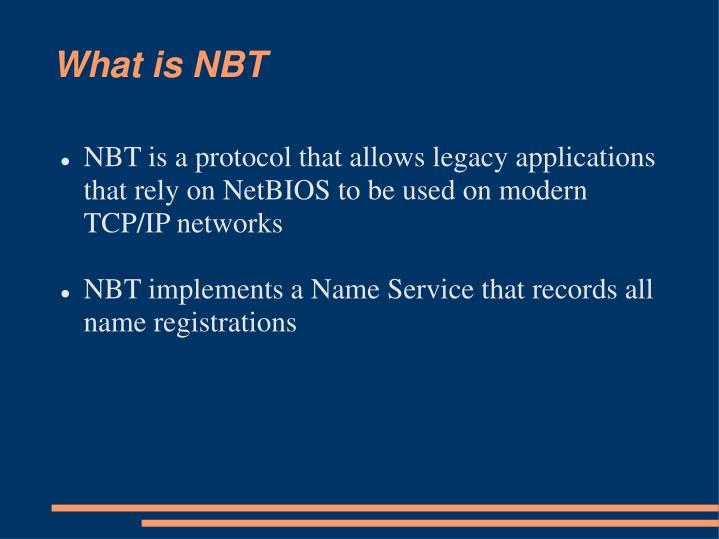 What is NBT