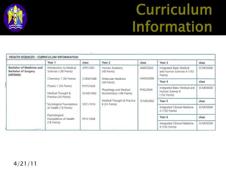 Curriculum Information