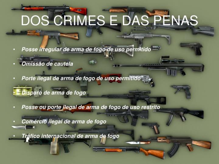 DOS CRIMES E DAS PENAS
