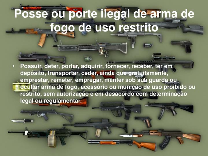 Posse ou porte ilegal de arma de fogo de uso restrito