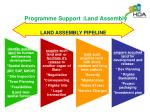 programme support land assembly