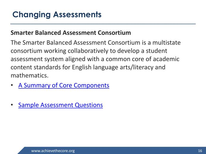 Changing Assessments
