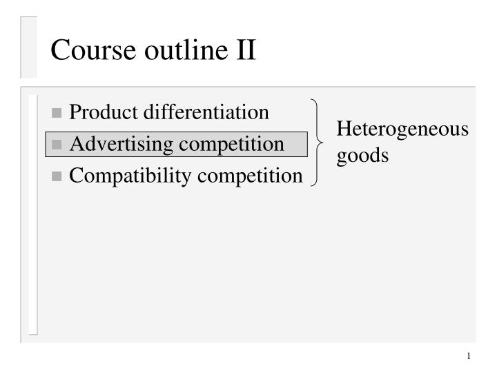 Course outline ii