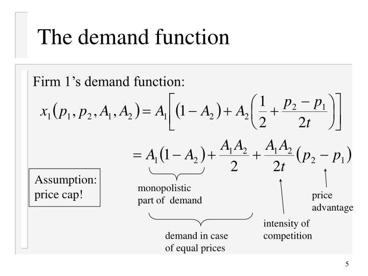 The demand function