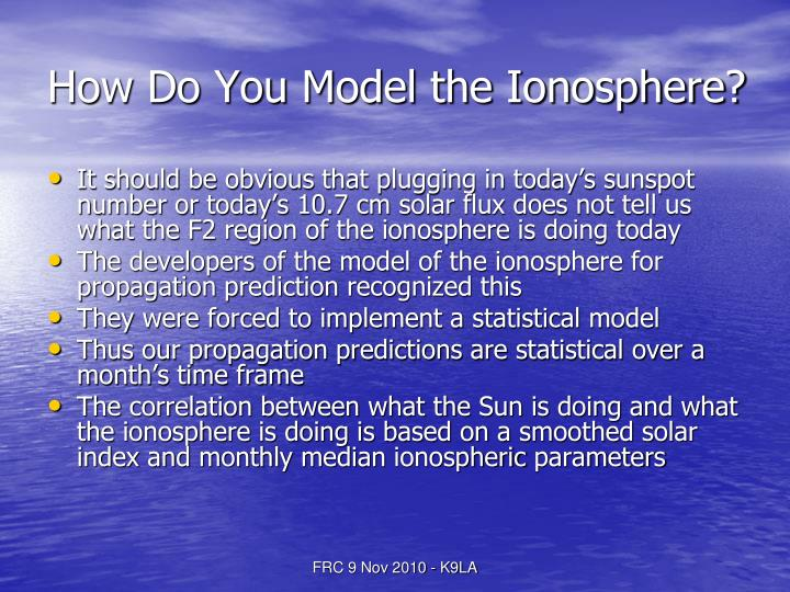 How Do You Model the Ionosphere?