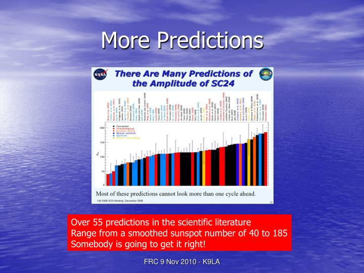 More Predictions