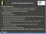 review meeting agenda cnt