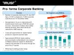 pro forma corporate banking