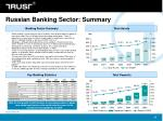 russian banking sector summary