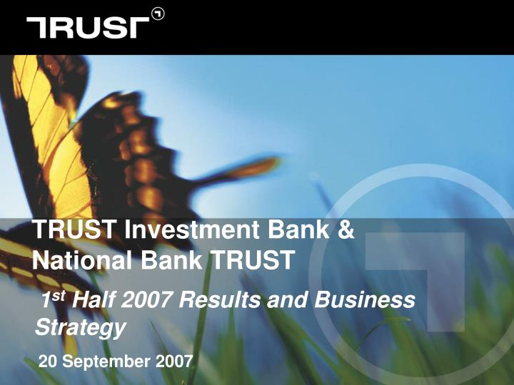Trust investment bank national bank trust