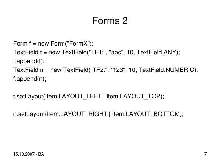 Forms 2
