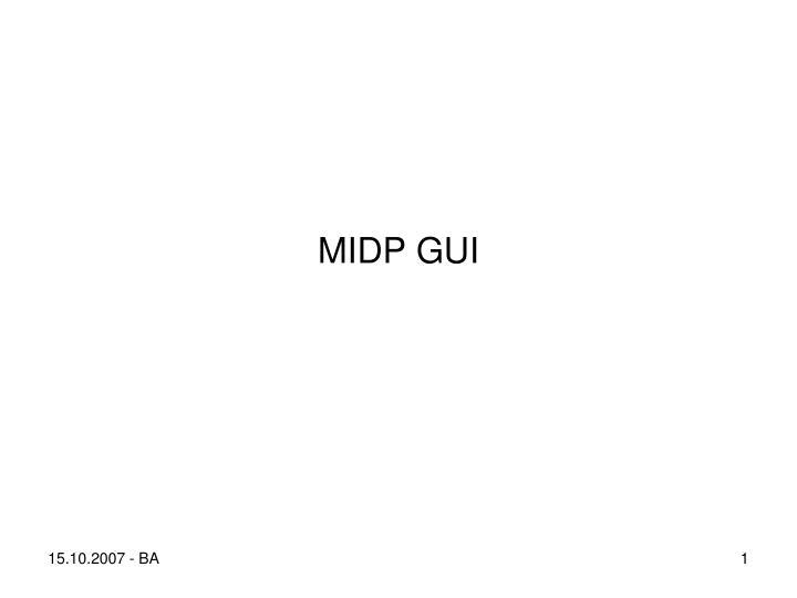 midp gui