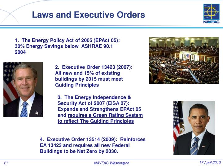 Laws and Executive Orders