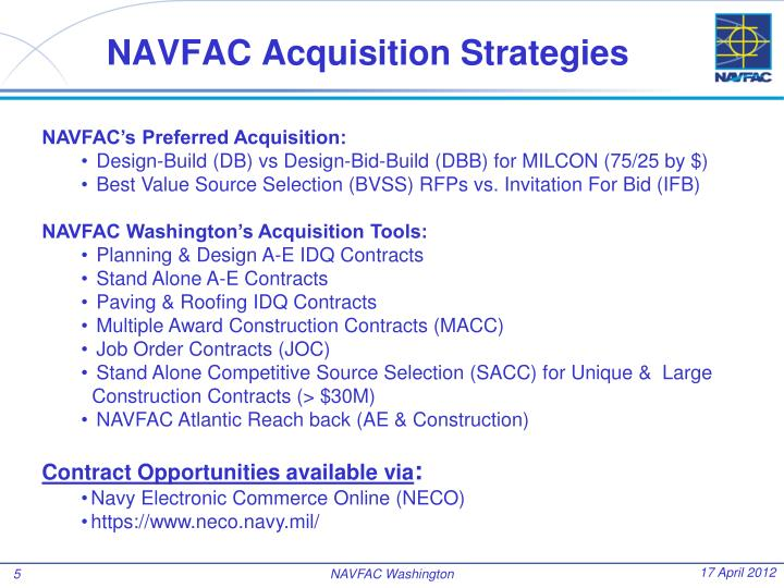 NAVFAC Acquisition Strategies