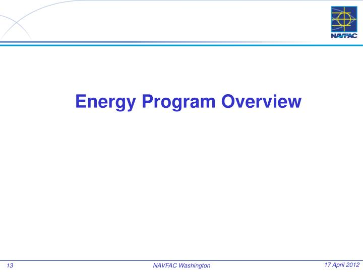 Energy Program Overview