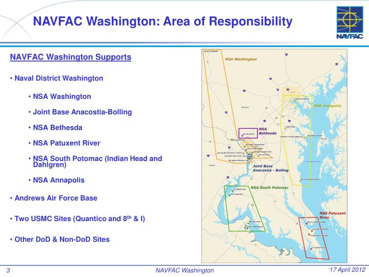 NAVFAC Washington: Area of Responsibility