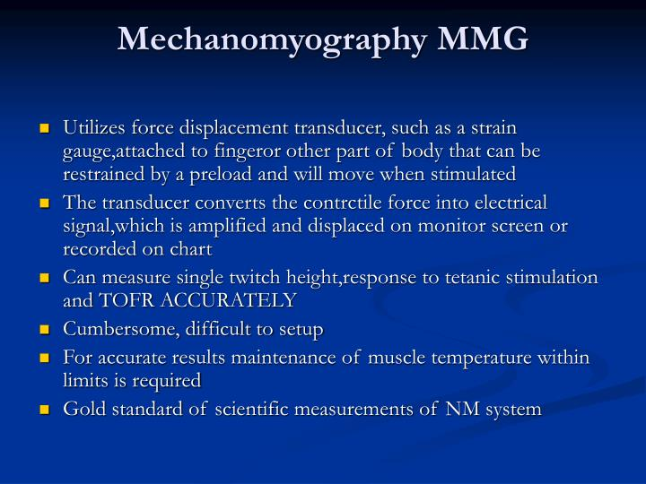 Mechanomyography MMG