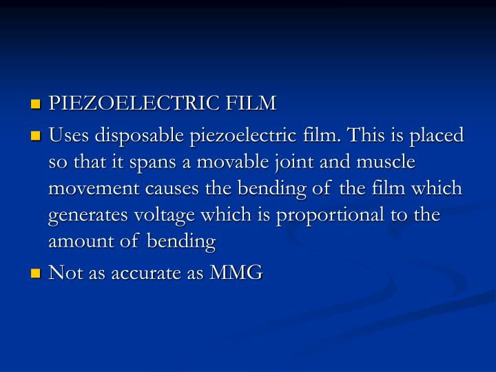 PIEZOELECTRIC FILM