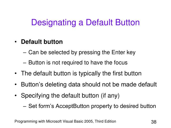 Designating a Default Button