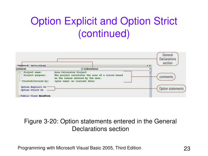 Option Explicit and Option Strict (continued)