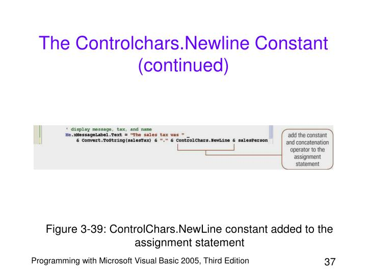 The Controlchars.Newline Constant (continued)