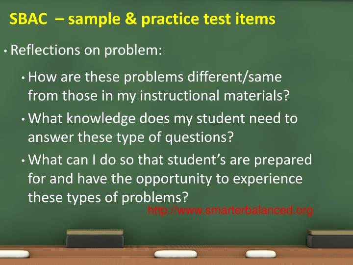 SBAC  – sample & practice test items