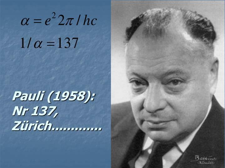 Pauli (1958):